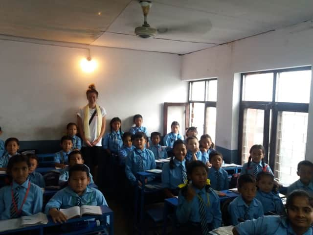 Review Lauren Warton Volunteer in NEPAL Kathmandu Teaching in Special School program