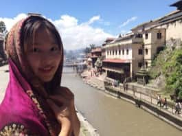 Review Volunteer Xinyi Shen in Nepal Kathmandu at the PreDental program