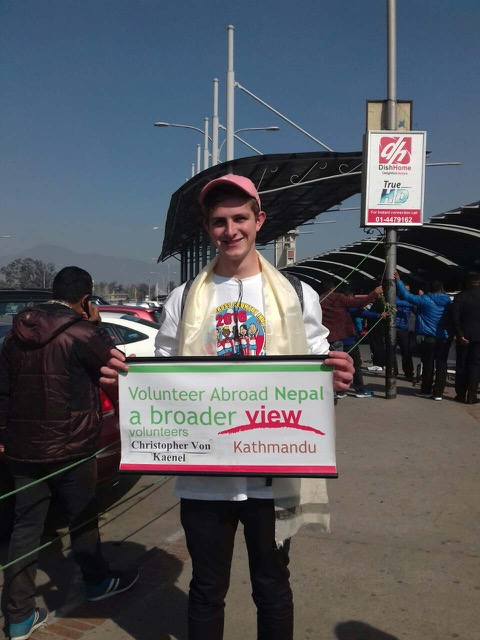 Review Volunteer Chris Von Kaenel Kathmandu Nepal at the Premedical program