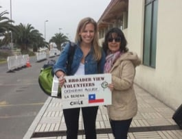 Review Volunteer Catherine Mc Elroy Chile La Serena at the Seniors Care Center