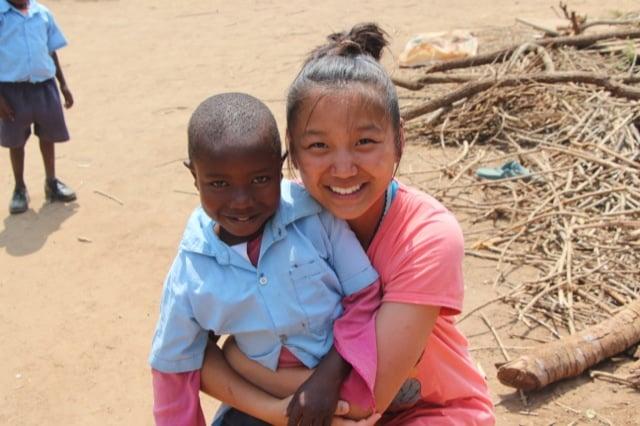 Tiffany Volunteer in Kirithani Village, Kenya