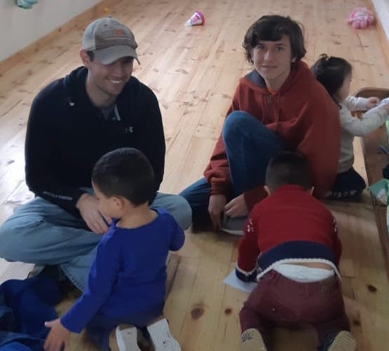 Volunteer Matthew Rhodes in La Serena Chile at the Orphanage Program