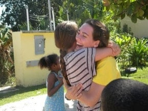 ABV Volunteer on the Orphans Program in Belize